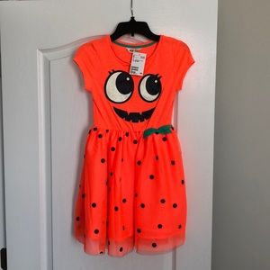H&M Orange Halloween Pumpkin Dress